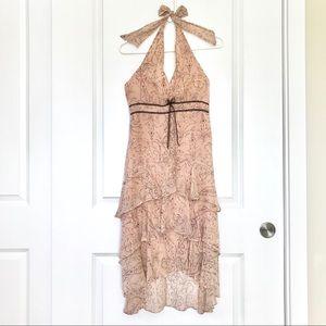 BCBG Max Azria Silk Halter Dress